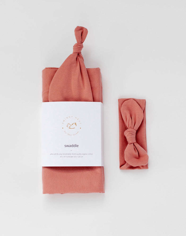 Stretchy Swaddle | Dusty Pink