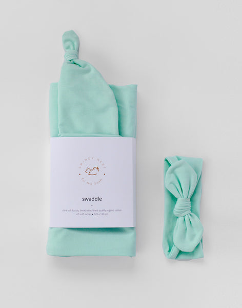 Stretchy Baby Swaddle | Mint