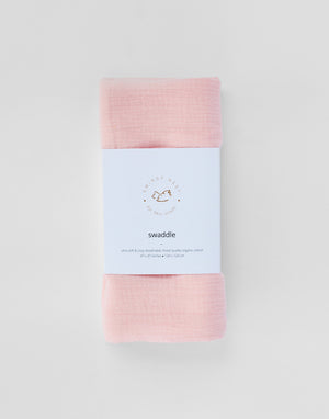 Organic Muslin Swaddle | Sugar Plum