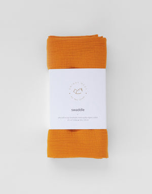Organic Muslin Swaddle | Honey