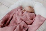 newborn plaid, newborn cotton plaid, dusty pink baby plaid