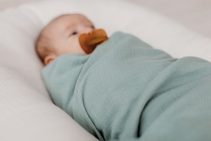 Organic Muslin Swaddle | Olive