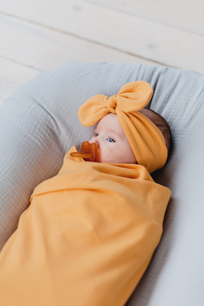 Stretchy Baby Swaddle | Honey