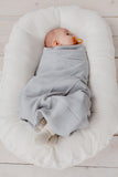 Organic Muslin Swaddle | Light Grey