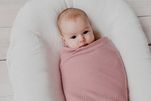 Organic Muslin Swaddle | Dusty Pink