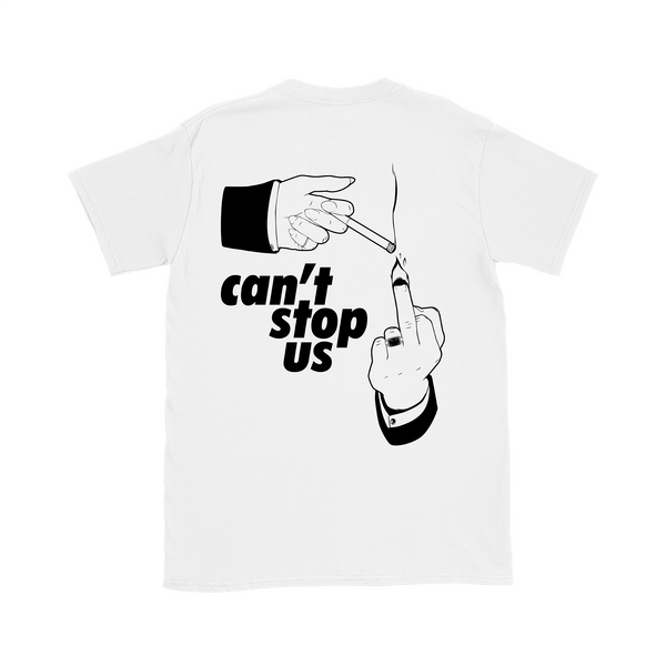 T-SHIRT CAN'T STOP US BLANC