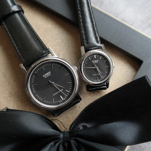 Casio Chaste in Gunmetal - Couple