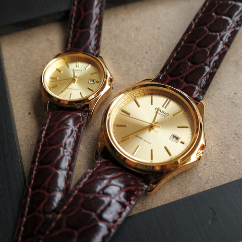 Casio Maestro in Gold - Couple