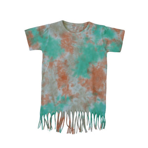 TIE & DYE WITH FRINGES GOTS