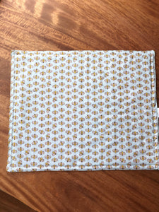 Bumblebee on Light Blue Placemats - Reversible