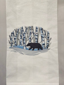 Bear in Snowy Woods