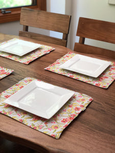 Bright Floral Placemats - Reversible