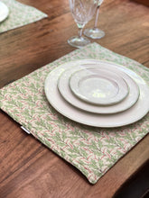 Load image into Gallery viewer, Holly Leaves Holiday Christmas Placemats - Reversible
