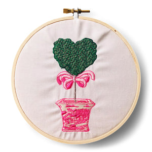 Hoop - Heart Topiary in Pink Pot