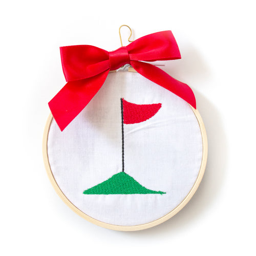 Ornament - Golf Flag