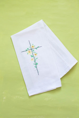 Easter Lily Cross Dish Towel
