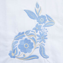 Load image into Gallery viewer, Blue Bunny Spring Easter Dish Towel