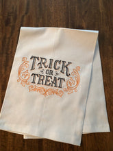 Load image into Gallery viewer, Halloween Trick or Treat Towel
