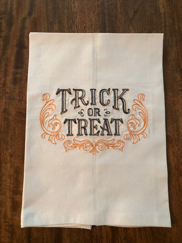 Halloween Trick or Treat Towel
