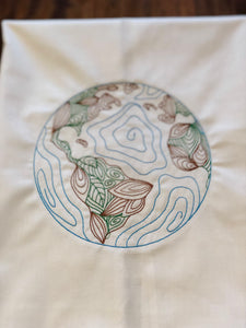 Globe of Planet Earth Towel