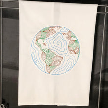 Load image into Gallery viewer, Globe of Planet Earth Towel