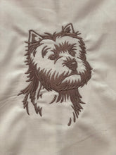 Load image into Gallery viewer, Westie Terrier Dog Towel
