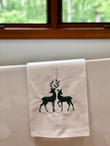 Buck and Doe Deer Towel
