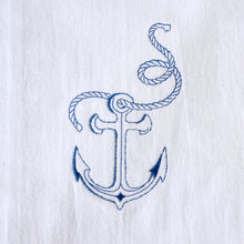 Load image into Gallery viewer, Nautical Beach Anchor Towel