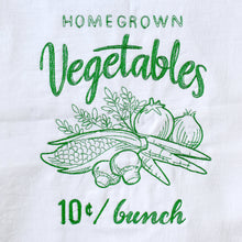 Load image into Gallery viewer, Farmers Market Style Vegetables Dish Towel