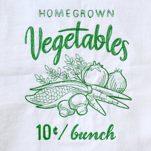 Farmers Market Style Vegetables Dish Towel