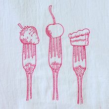 Load image into Gallery viewer, Forks with Dessert Towel