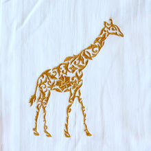 Load image into Gallery viewer, Giraffe in Gold Towel