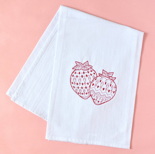 Strawberries Fruit Towel