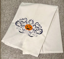 Load image into Gallery viewer, Halloween Pumpkin Jack o Lantern Towel