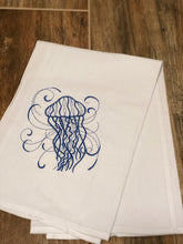 Load image into Gallery viewer, Swirl Jellyfish in Navy Towel