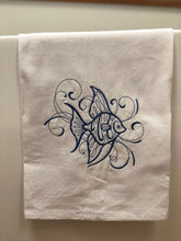 Load image into Gallery viewer, Swirl Angel Fish in Navy Towel
