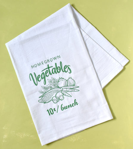 Homegrown Vegetables Towel