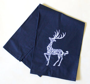 Elegant Reindeer Christmas Winter Holiday Towel