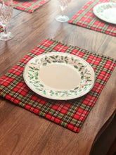 Load image into Gallery viewer, Christmas Holiday Seasonal Plaid Winter Placemats