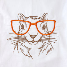 Load image into Gallery viewer, Squirrel with Glasses Towel