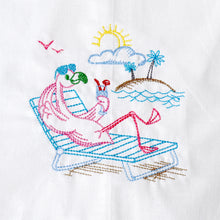 Load image into Gallery viewer, Flamingo on Island Living Towel