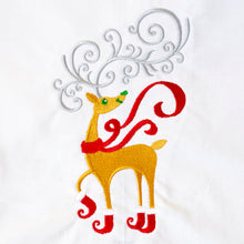 Load image into Gallery viewer, Reindeer in Elf Boots Christmas Towel