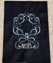 Load image into Gallery viewer, Noel Christmas on Navy Winter Holiday Towel