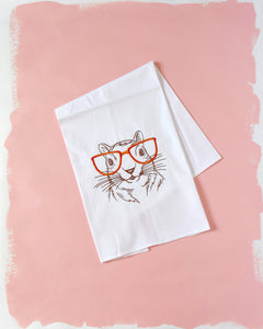 Squirrel with Glasses Towel