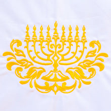 Load image into Gallery viewer, Menorah Hannukah Chanukkah Holiday Towel
