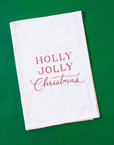 Holly Jolly Christmas Towel