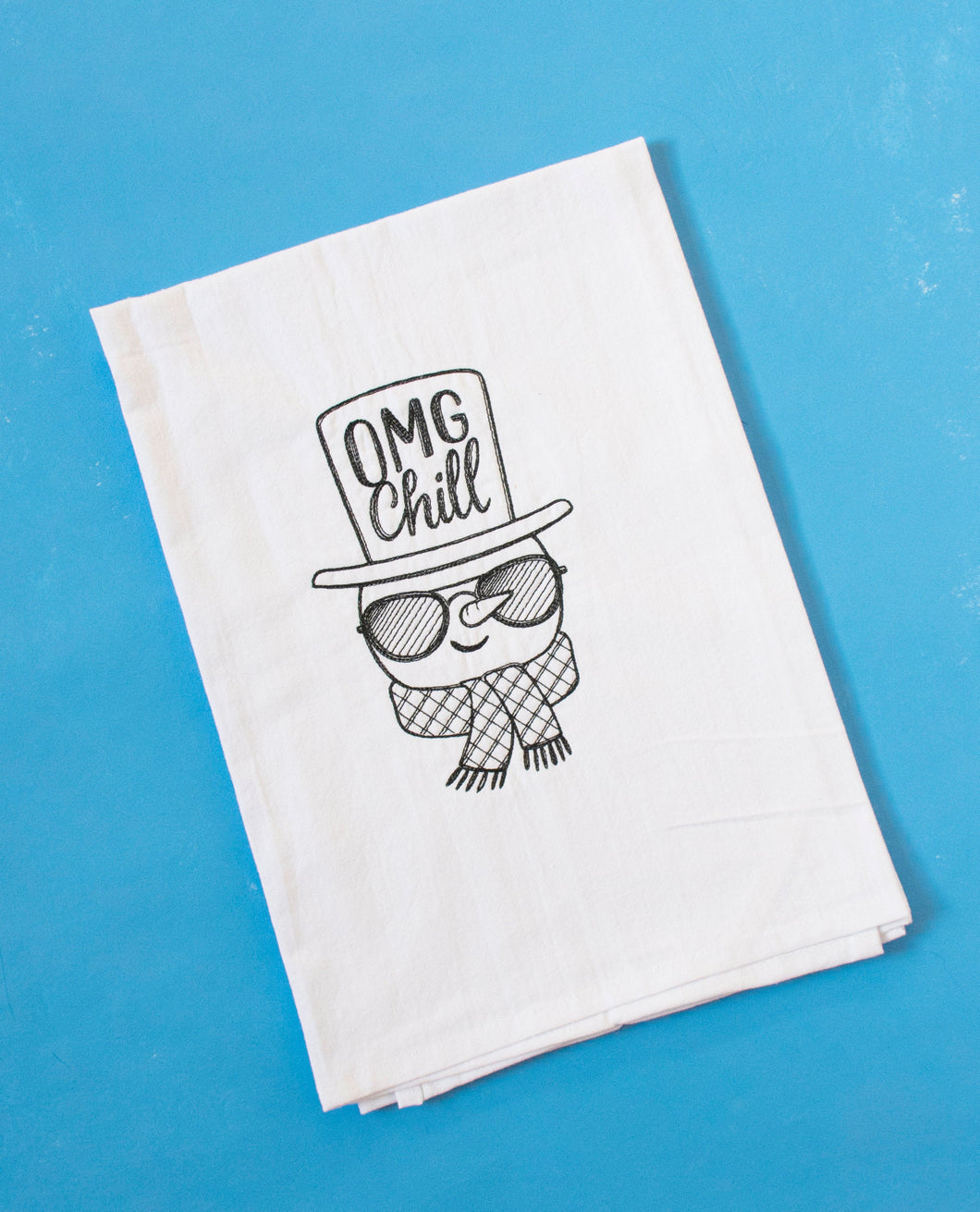 OMG Chill Snowman Towel