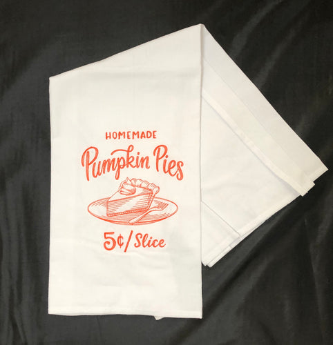 Farmers Market Style Fall Pumpkin Pies Towel