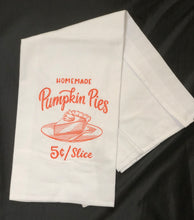 Load image into Gallery viewer, Farmers Market Style Fall Pumpkin Pies Towel