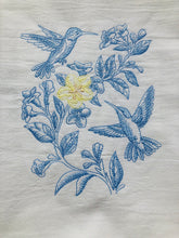 Load image into Gallery viewer, Toile Hummingbird Spring Dish Towel
